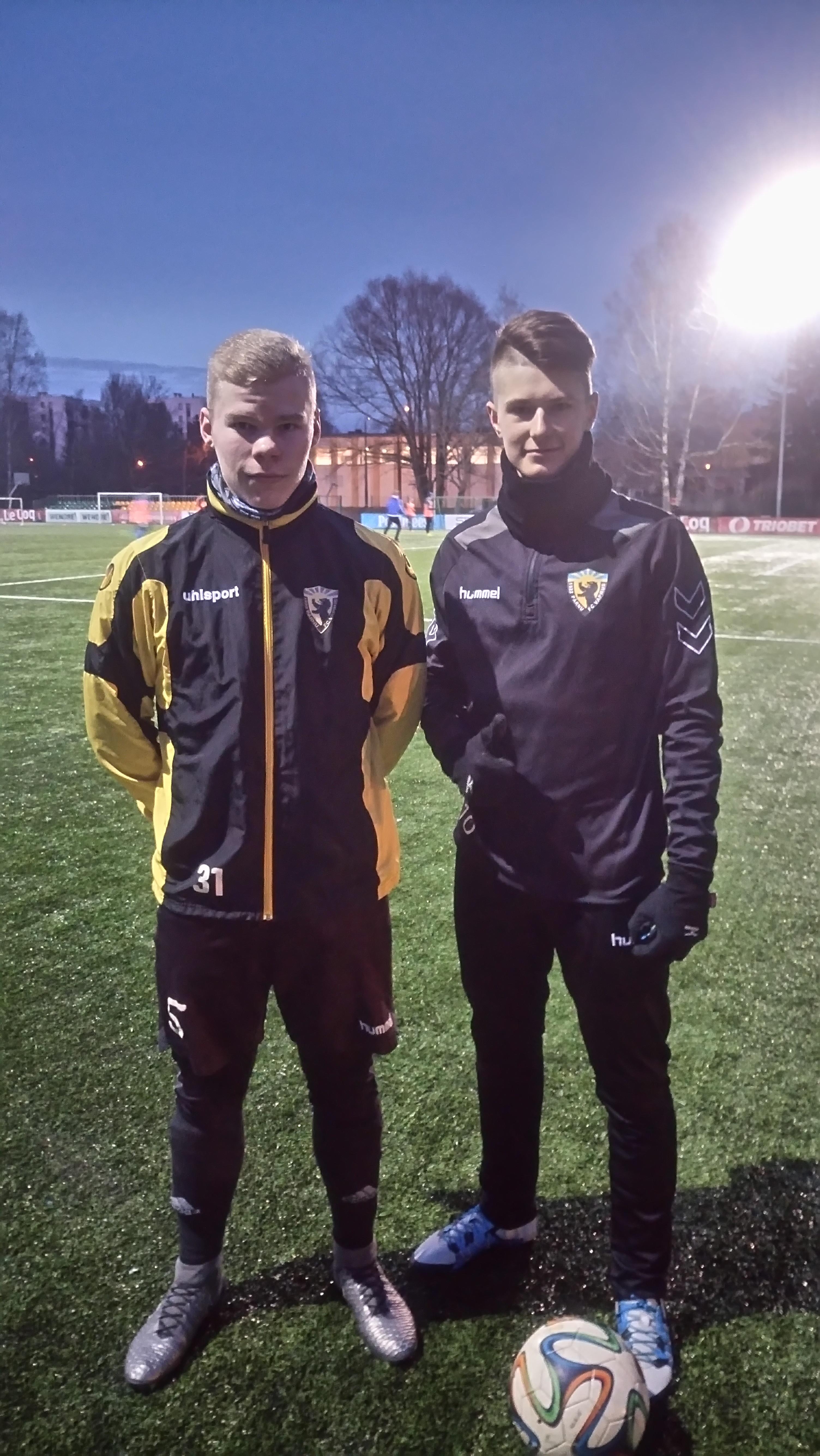 Oskar Lepik ja Rasmus Ilves teenisid U18 koondisekutse