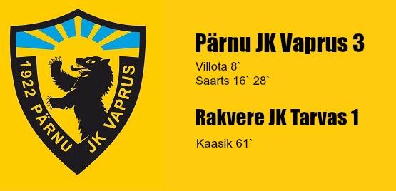 Treeningmängus võit Rakvere JK Tarvas vastu